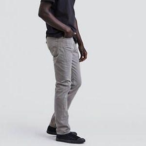 NWT Levi's 510 Skinny Men's Grey Jeans